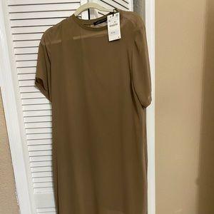 Olive green shirt drees